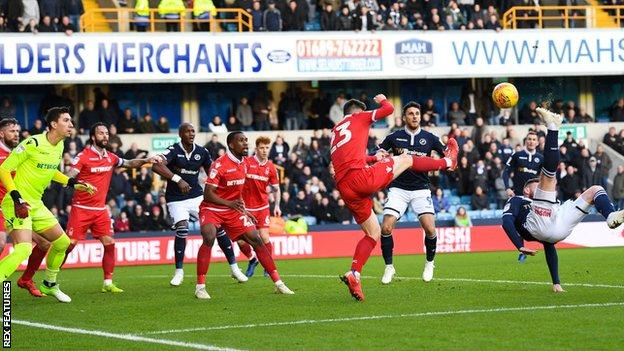 Ryan Tunnicliffe puts Millwall ahead against Nottingham Forest