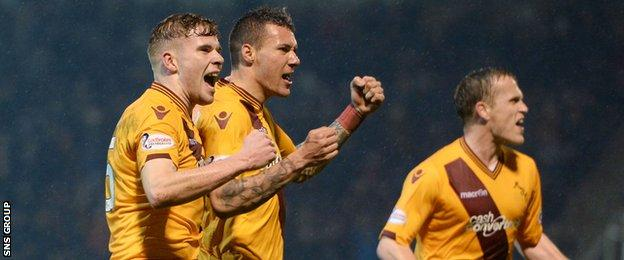 Motherwell have won four of their last five league matches to move into the top six