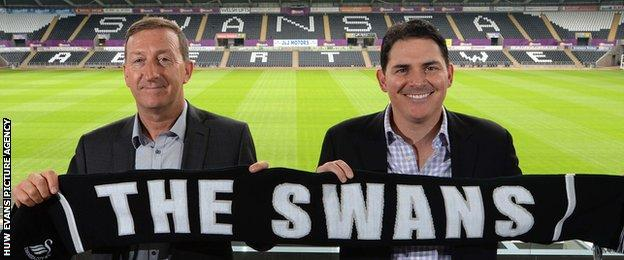 Jason Levien (right) with Huw Jenkins