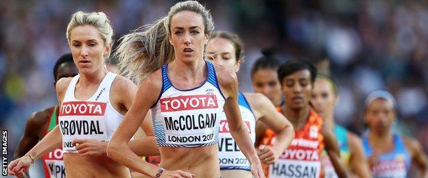Eilish McColgan in action