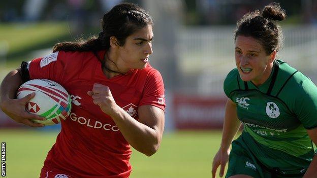 Canada take on Ireland in women's sevens