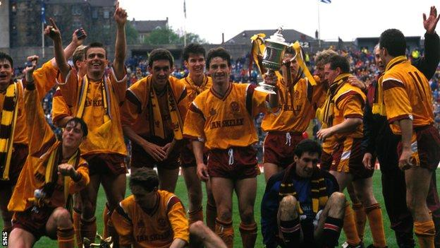 Motherwell lift the cup after an extra-time thriller