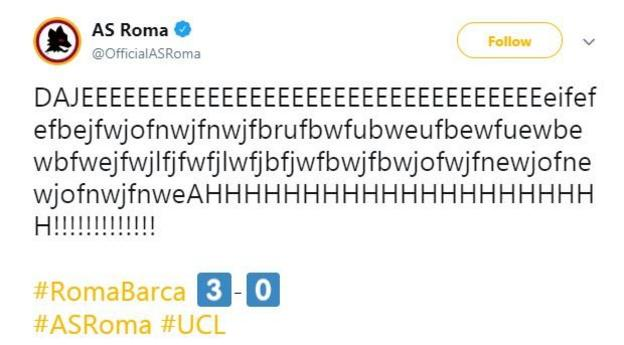 Roma Tweet