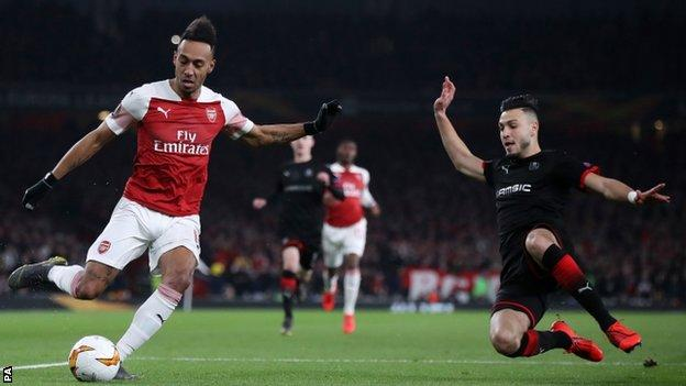 Arsenal overturned a deficit against Rennes in the last 16