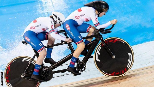 British tandem riders Lora Fachie & Corrine Hall