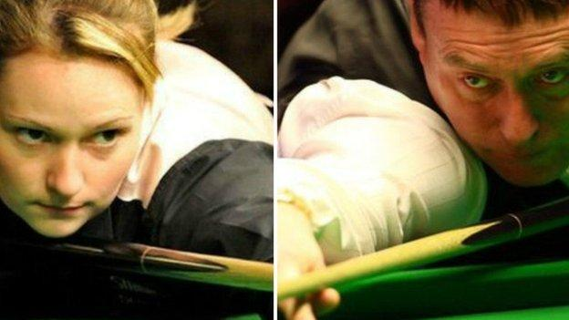 Reanne Evans and Jimmy White