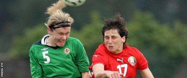 Julie Nelson in action against Belarus