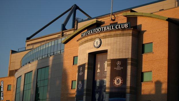 A general view of the outside of Chelsea's stadium Stamford Bridge