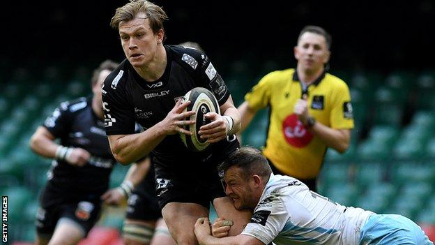 Nick Tompkins in action for Dragons