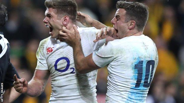 Owen Farrell and George Ford
