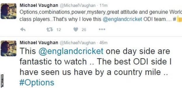 Michael Vaughan tweets