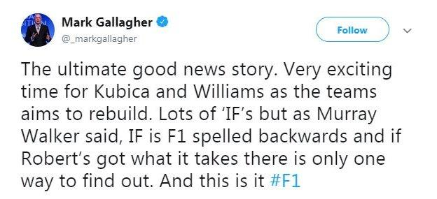 Mark Gallagher is a former F1 analyst for BBC Radio 5 live