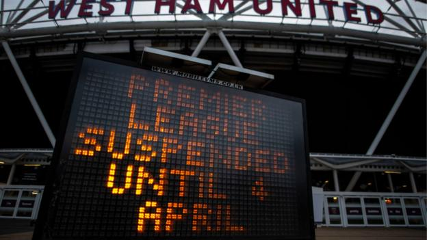 Matches postponed sign at London Stadium