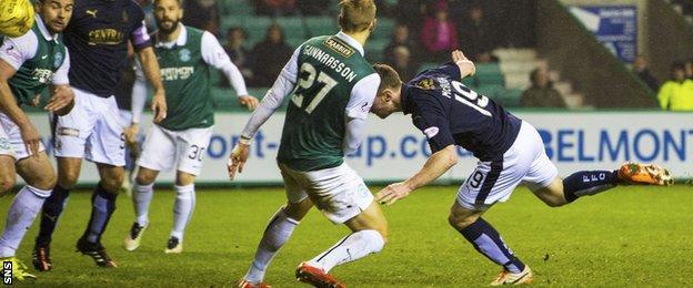 Bob McHugh stoops to equalise for Falkirk