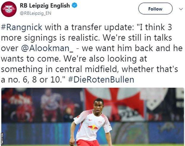 Ademola Lookman tweet