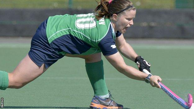 Shirley McCay set a new record for Ireland caps in the final