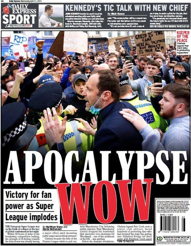 The back page of the Scottish Daily Express on 210421