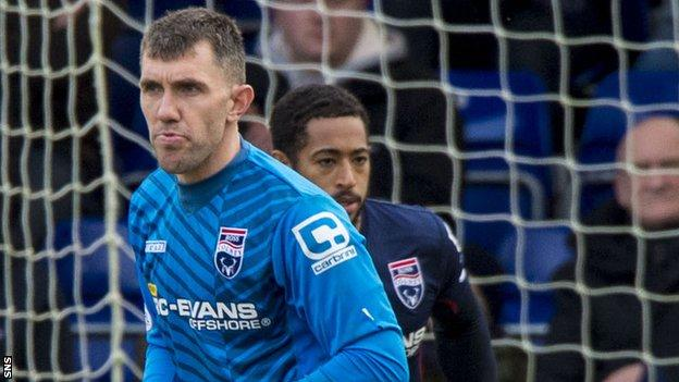 Mark Brown in action for Ross County