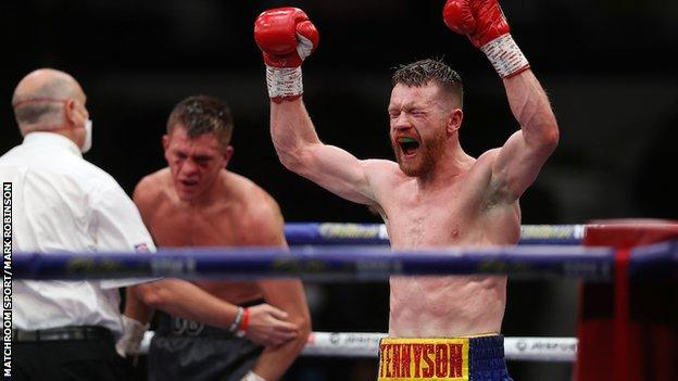 Northern Ireland's Tennyson won the vacant British lightweight title