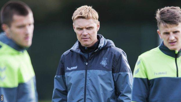 Lithuania head coach Edgaras Jankauskas at training