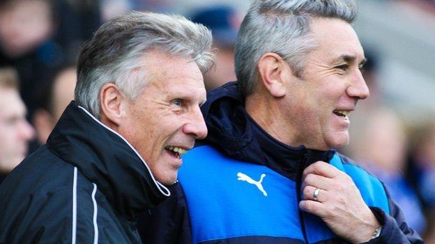 Walsall joint-caretaker manager John Ward and Chesterfield caretaker boss Mark Smith
