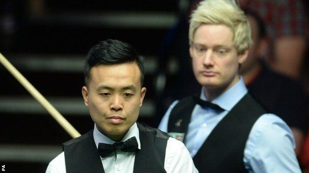 Marco Fu and Neil Robertson