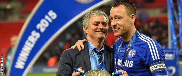 Jose Mourino and John Terry together during the 2015 League Cup final