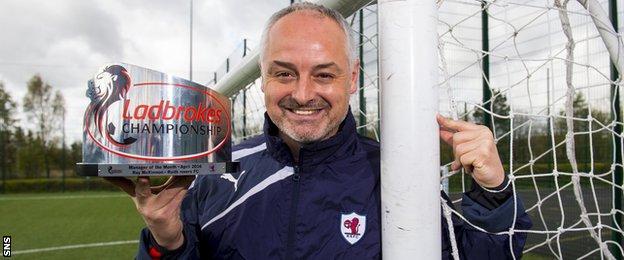 Raith Rovers manager Ray McKinnon