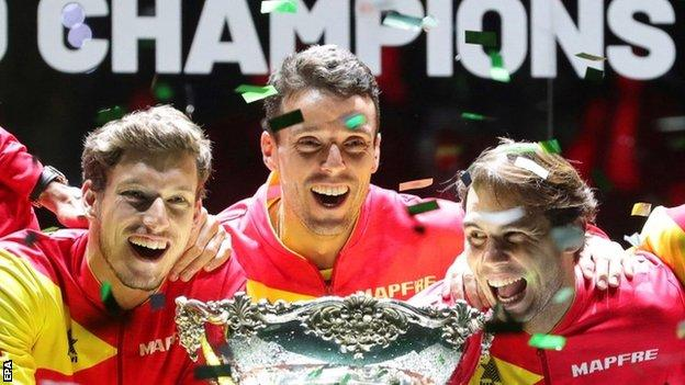 Spain with trophy