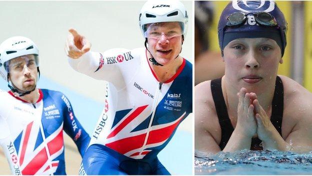 Tandem pair Neil Fachie & Matt Rotherham and swimmer Ellie Robinson