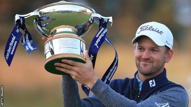 Bernd Wiesberger with the Scottish Open trophy