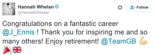 Hannah Whelan tweet