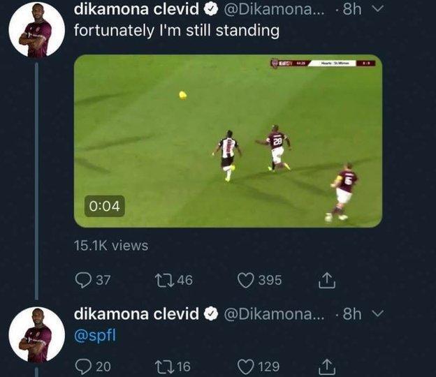 Clevid Dikamona's tweet