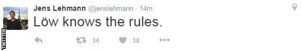 Jens Lehmann tweet