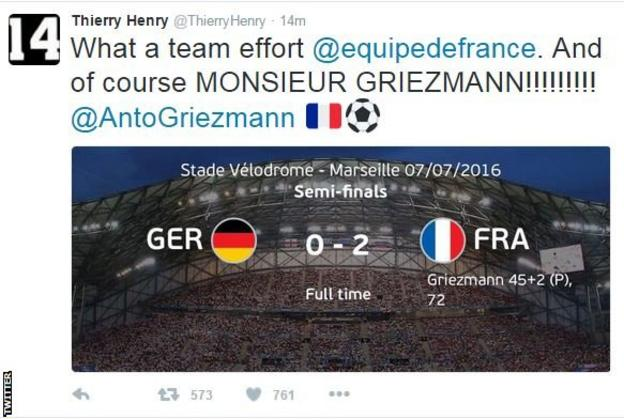 Thierry Henry on Twitter