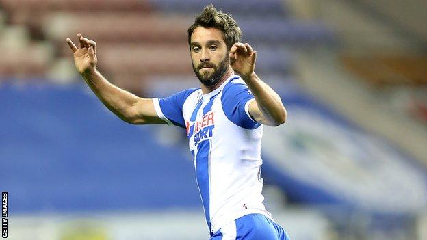 Will Grigg has scored 10 goals for Wigan Athletic this season