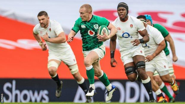 Keith Earls produced a sensational finish for Ireland's first try