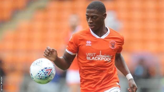 Sullay Kaikai in action for Blackpool