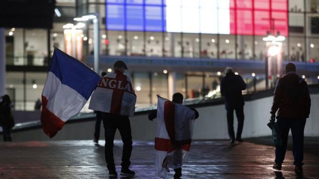 England v France fans