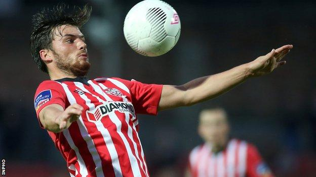 Philip Lowry's dismissal hit Derry's hopes of victory