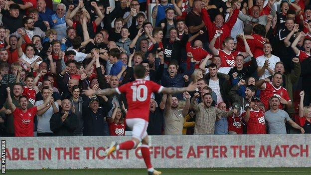 Barrie McKay celebrates his first-half goal
