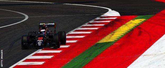 McLaren F1 driver Jenson Button