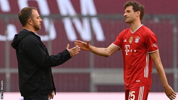 Hansi Flick's Bayern Munich have a five-point lead at the top of the Bundesliga