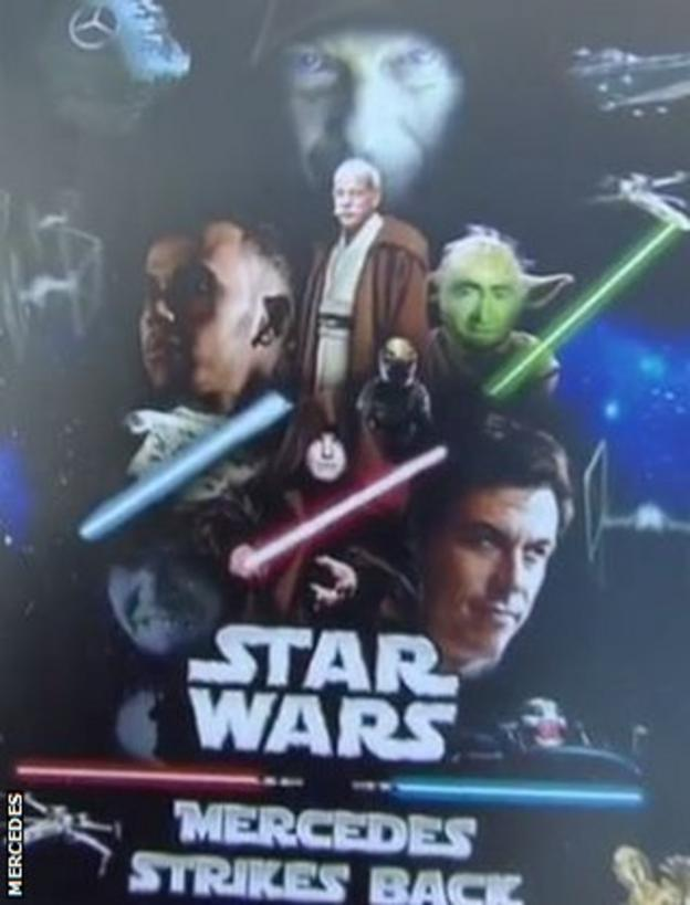 Mercedes Star Wars poster