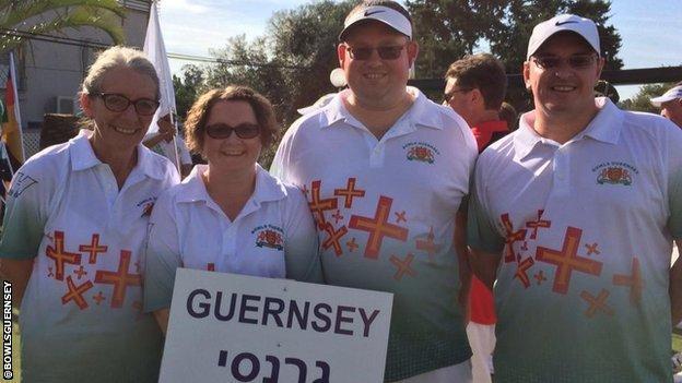 Guernsey bowls team