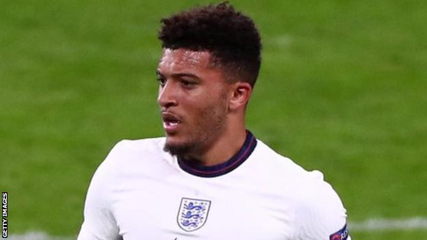Jadon Sancho: England winger has medical ahead of Manchester United move thumbnail