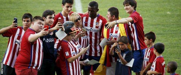 Jackson Martinez of Atletico Madrid