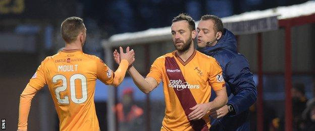 James McFadden came off the bench for his first appearance of his third spell at Motherwell