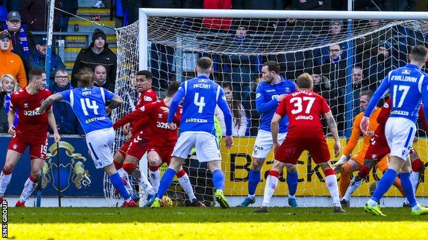 Stevie May scored a late equaliser for St Johnstone when Rangers failed to clear a corner