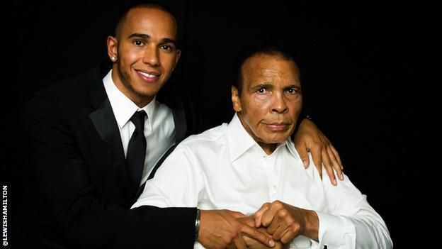 Muhammed Ali and Lewis Hamilton